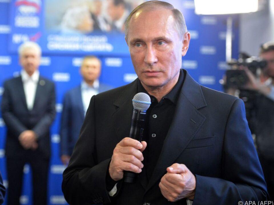 Putin sprach von einem \
