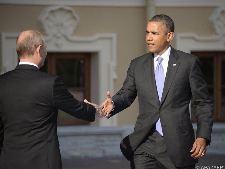 Putin und Obama trafen einander am Rande des G-20Treffens