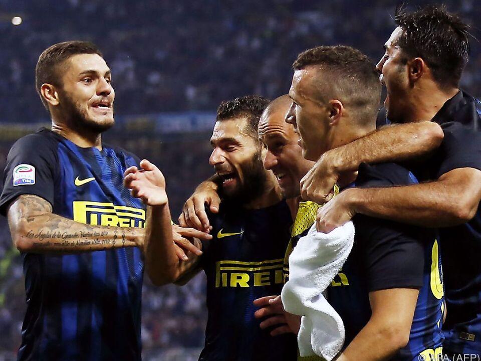 Riesenjubel bei Inter Mailand