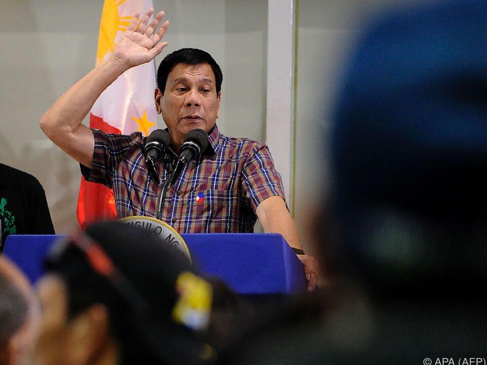 Rodrigo Duterte erklärte \