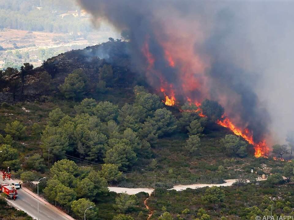 Rund 320 Hektar Land wurden schon zerstört