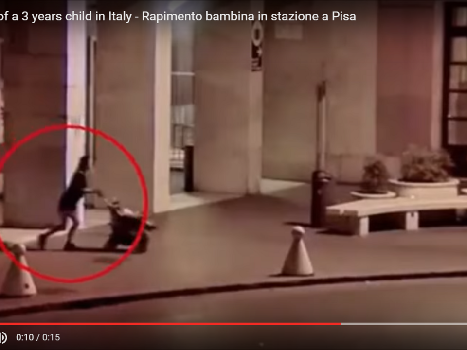 Kidnapping of a 3 years child in Italy - Rapimento bambina in stazione a Pisa