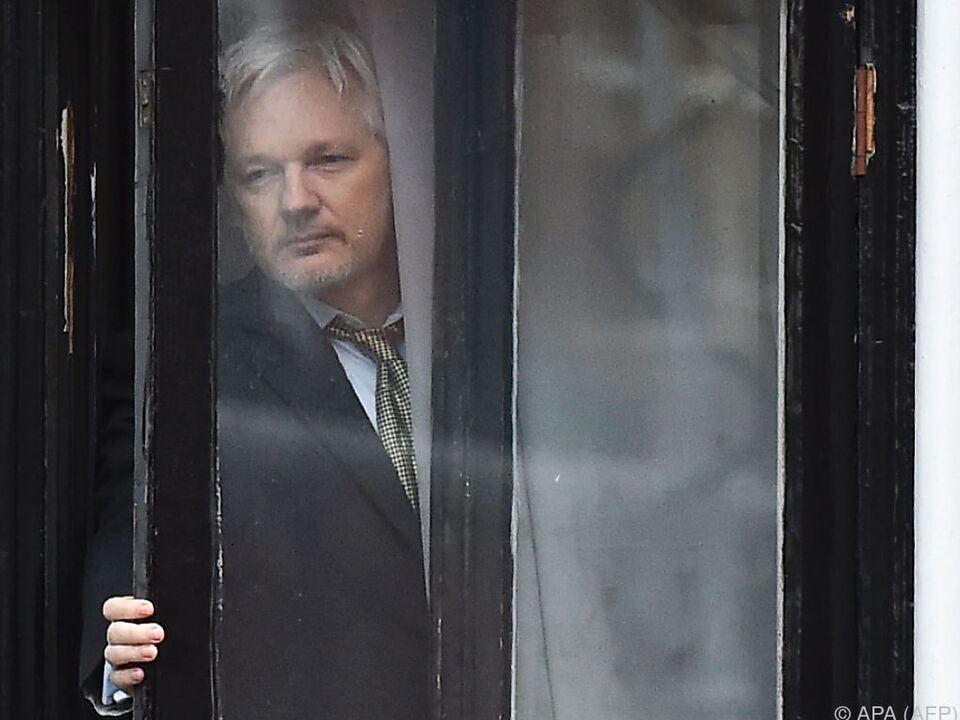 Seit 2012 lebt Assange in der ecuadorianischen Botschaft in London