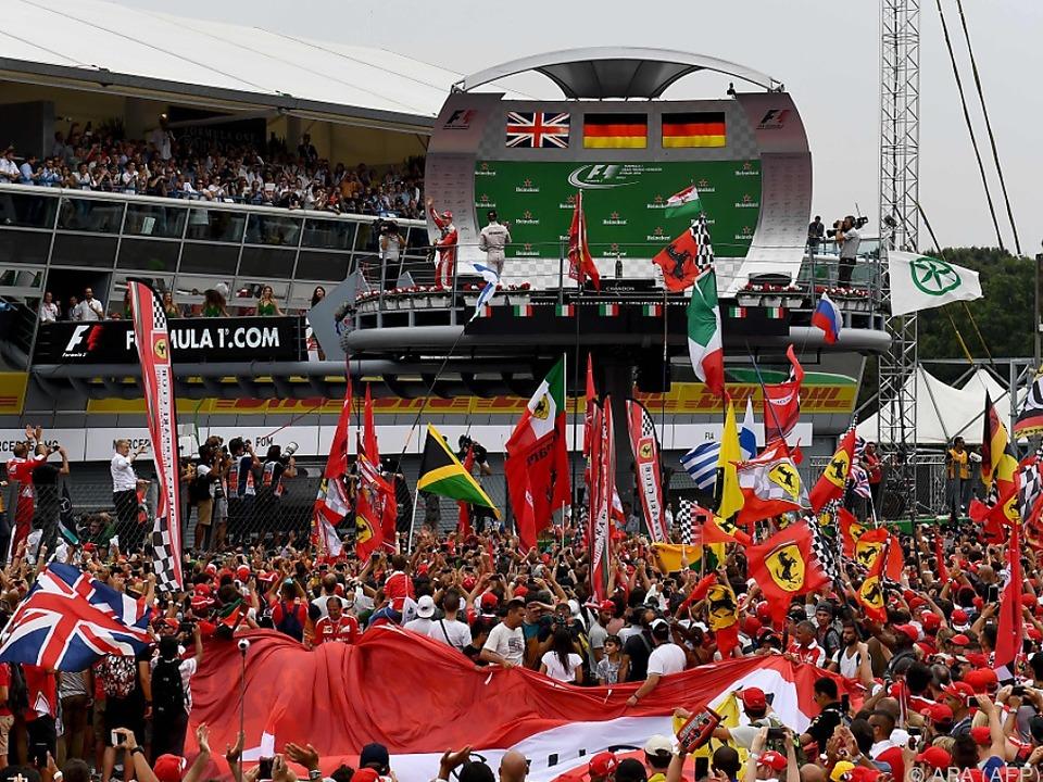 Siegerehrung beim GP in Monza