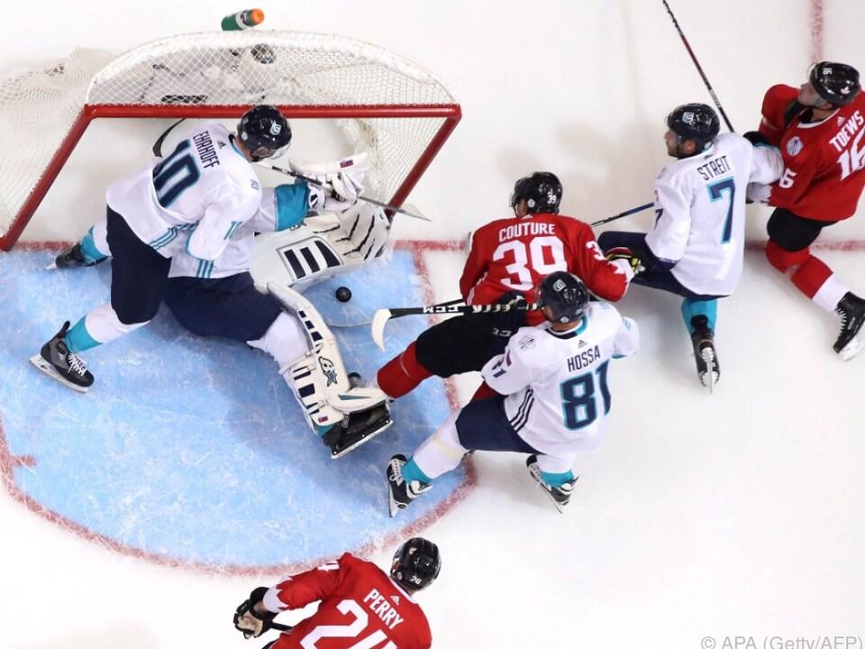 Team Europa (weiß) war gegen Kanada chancenlos