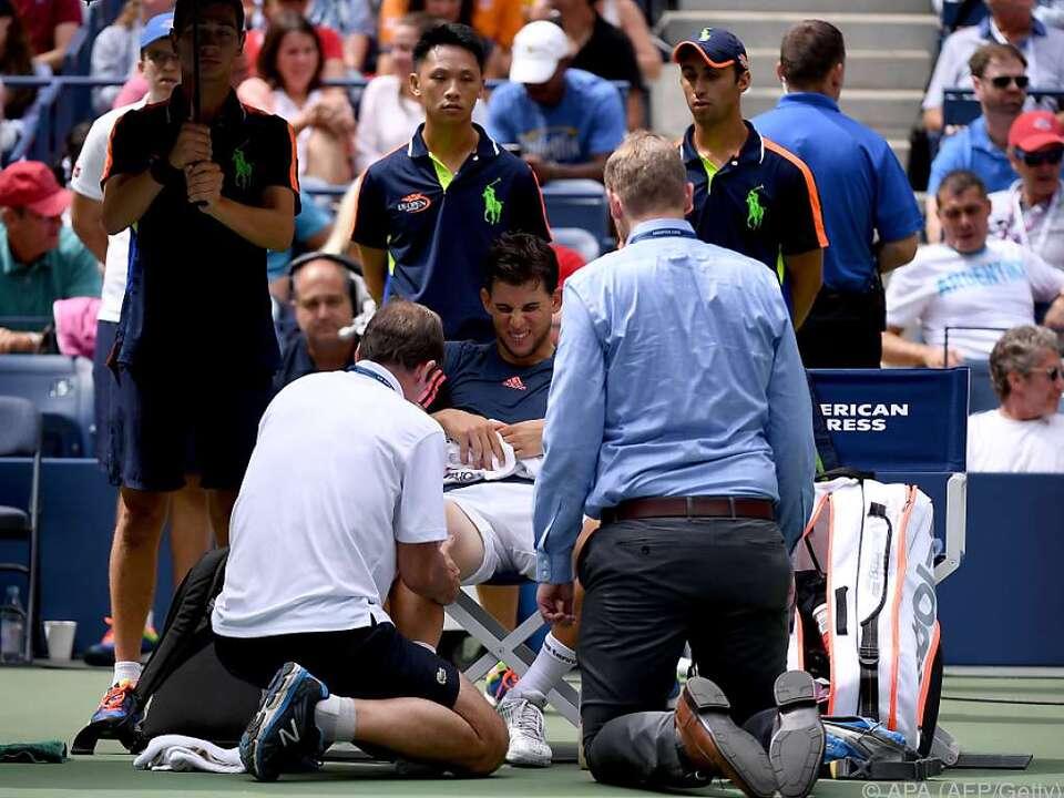 Thiem verletzte sich am rechten Knie