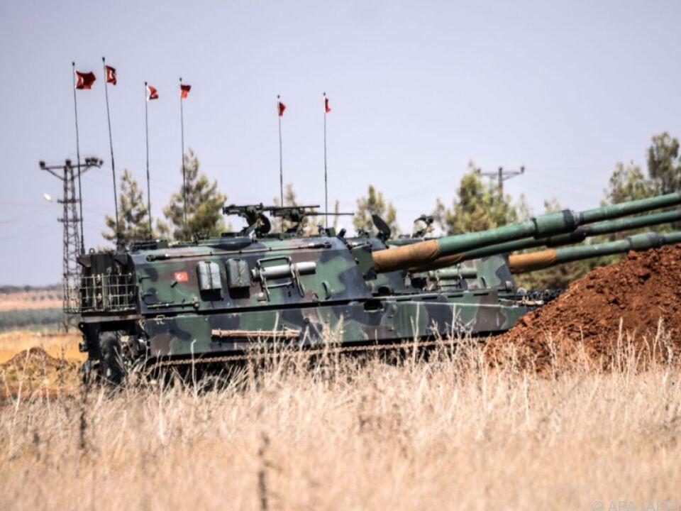 Türkische Panzer im Syrien-Einsatz