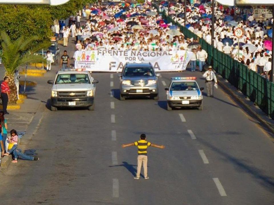anti-homo-Protest Zwölfjähriger