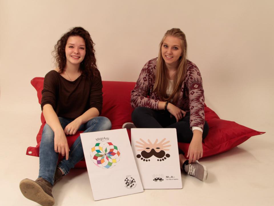 Viktoria Tribus (rechts) mit Magdalena Nock