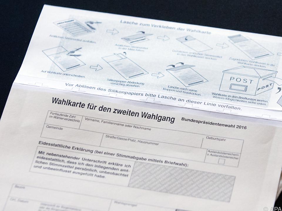 Wahlkarte öffnet sich erst nach Stimmabgabe