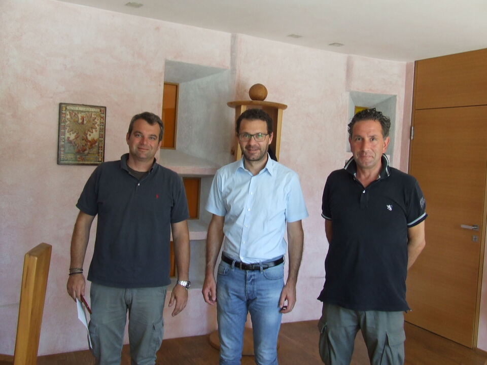 Wanderhändler treffen Bürgermeister von Bruneck-hds