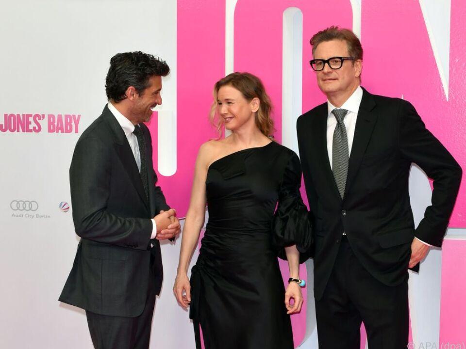 Zellweger mit ihren Kollegen Dempsey und Firth in Berlin