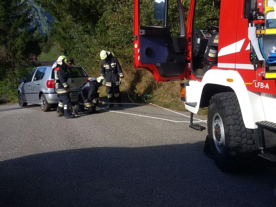 Feuerwehr Mühlwald Bergung Pkw