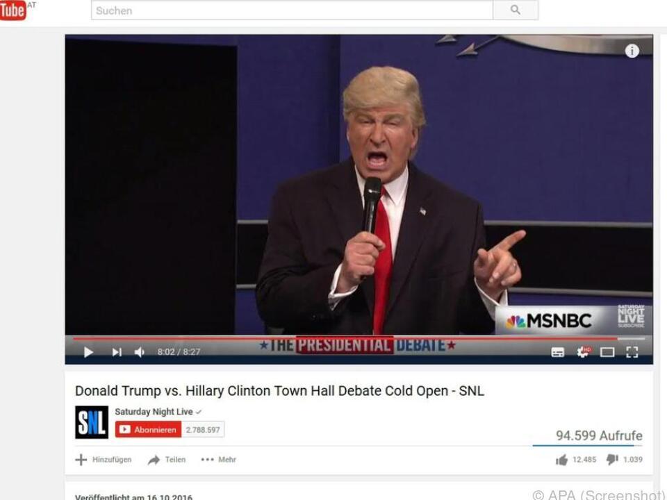 Alec Baldwin wird von anderen für seine Trump-Darstellung gefeiert