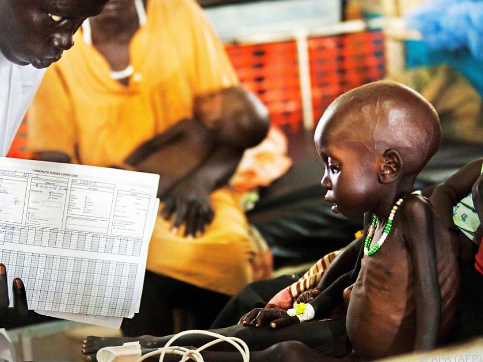 Alle zehn Sekunden stirbt ein Kind an Unterernährung