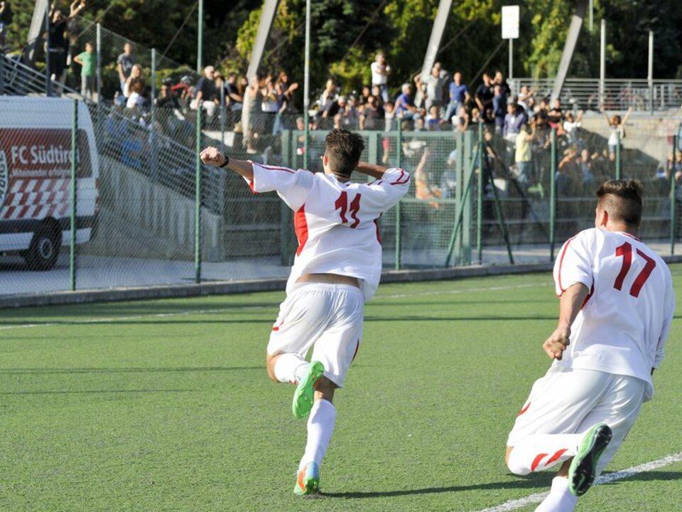 Andrea Orsolin, in gol con la Berretti