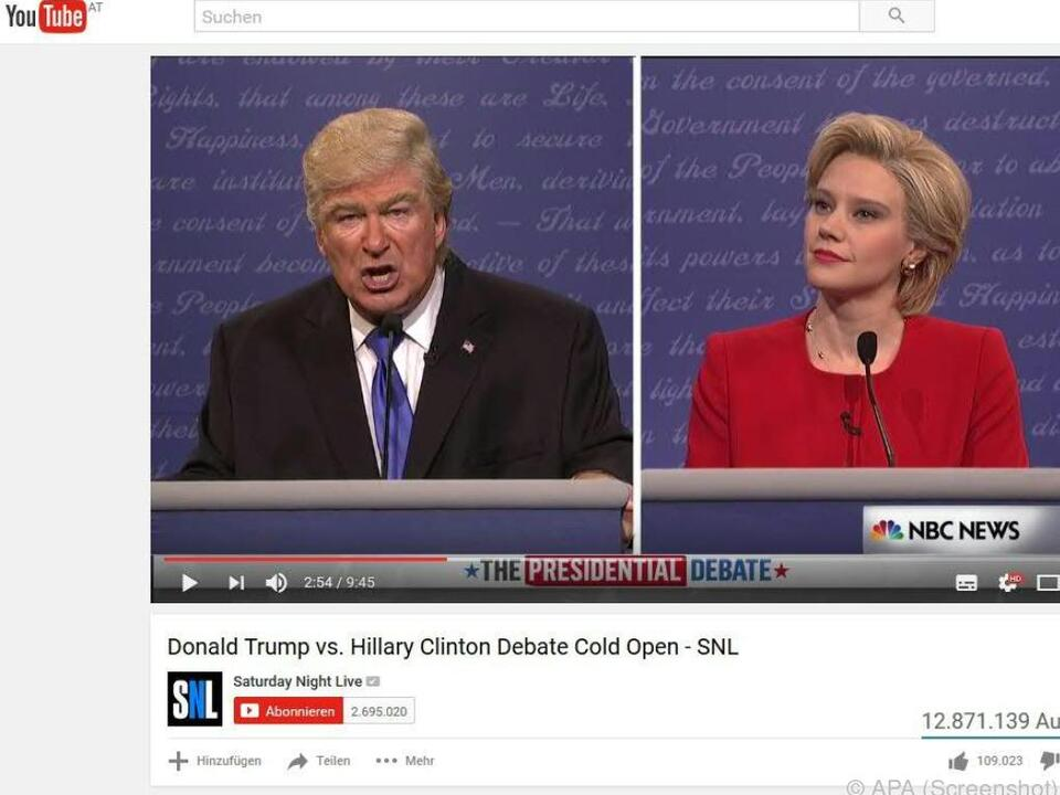 Clinton war von der gelungenen Persiflage sehr angetan