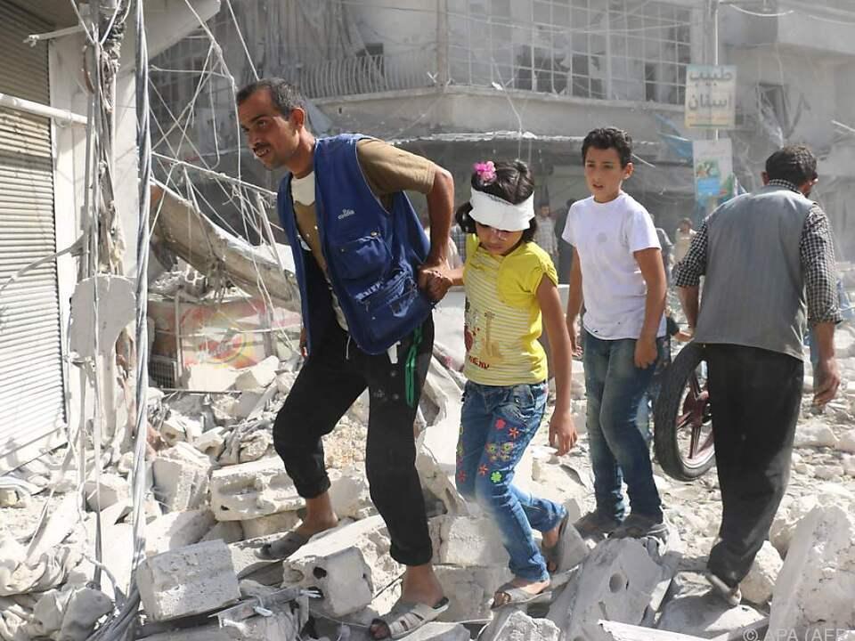 Das Leben in Aleppo ist äußerst schwierig und gefährlich