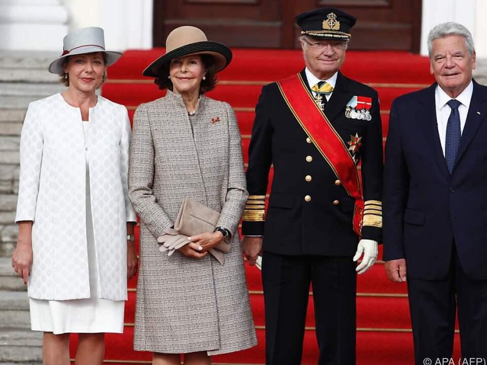 Das schwedische Königspaar wurde von Gauck empfangen