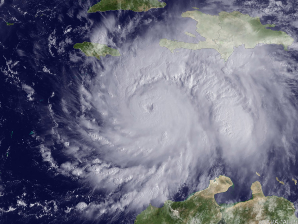 Der Wirbelsturm befindet sich derzeit über Kuba