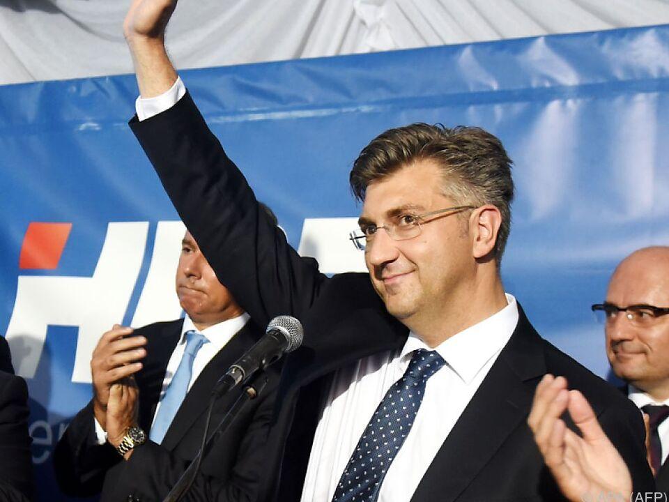 Die HDZ unter Plenkovic war Siegerin der Parlamentswahlen