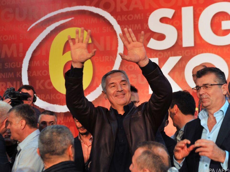 Djukanovic feierte seine Partei als Wahlsieger
