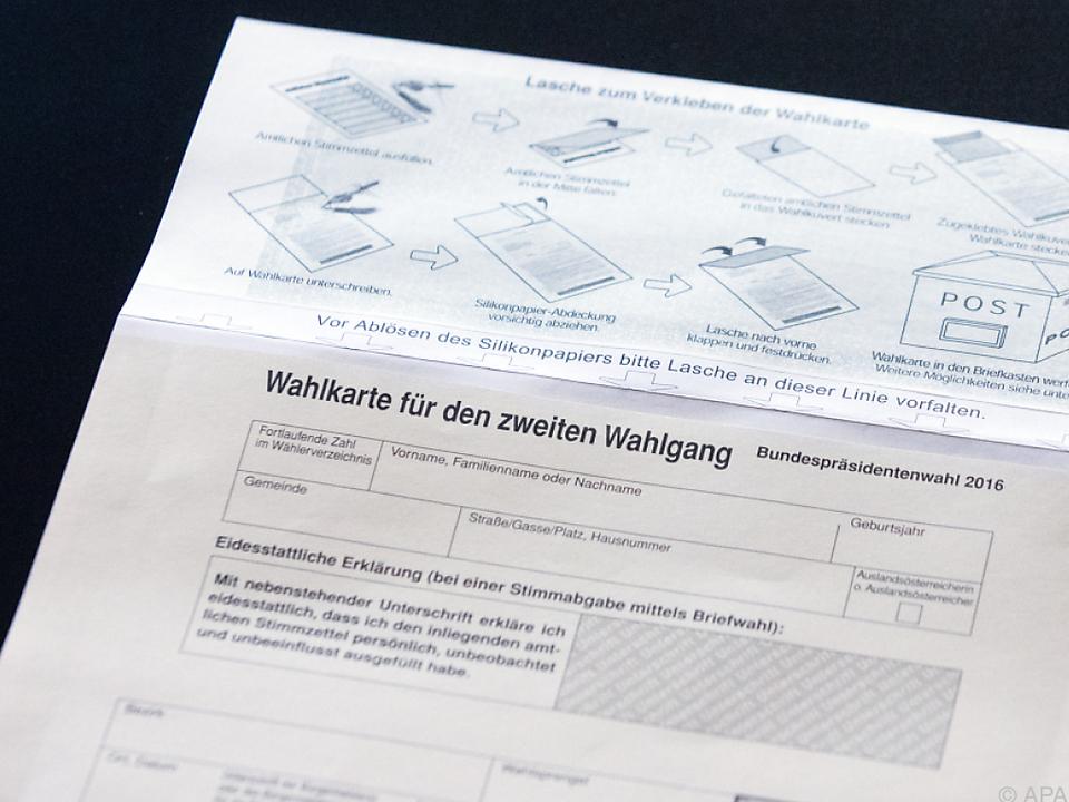 Einmal geht es noch: Wahlkarten können beantragt werden