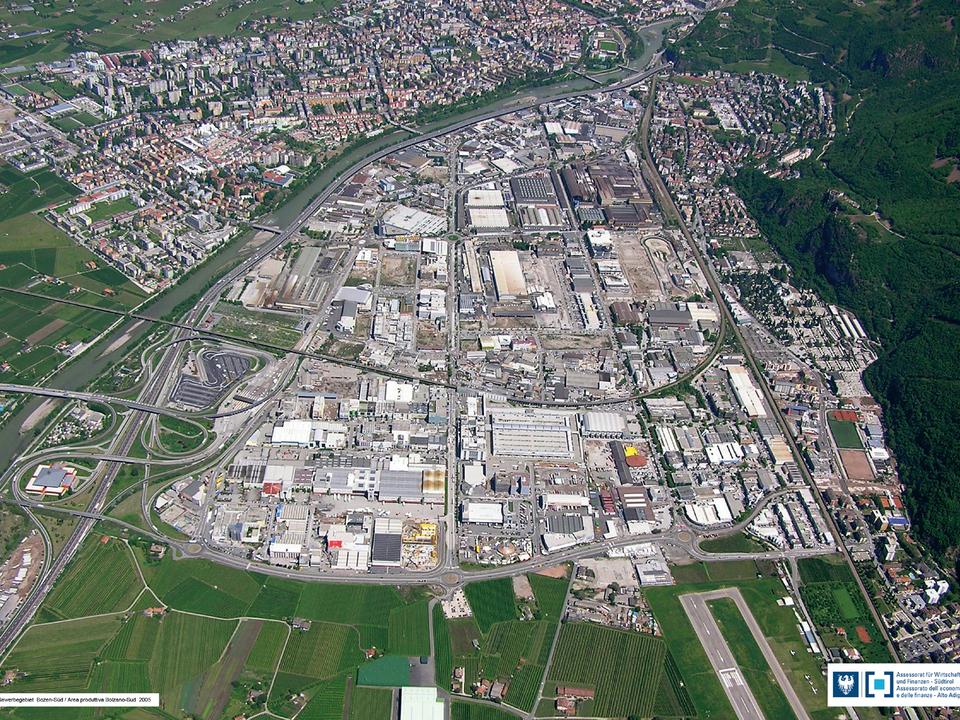 industriezone bozen raumordnung gewerbegebiet einkaufen einkaufszentrum bozen süd