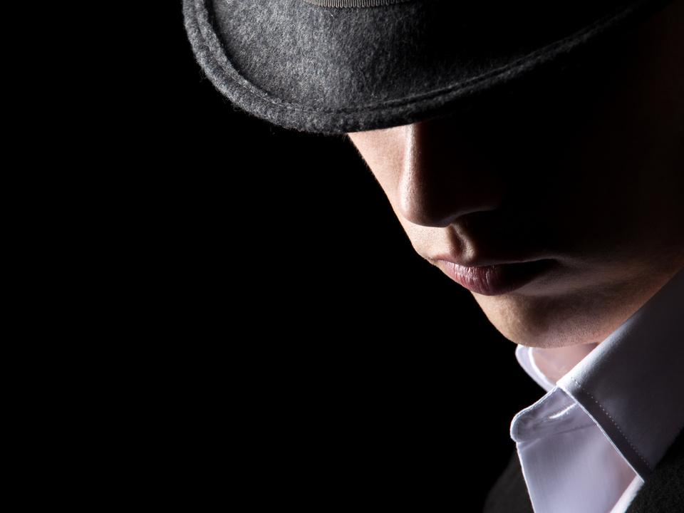 Unbekannter Mann Hut, Gangster, Mafioso