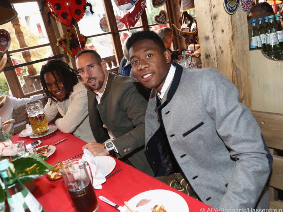 Franck Ribery behielt David Alaba im Auge