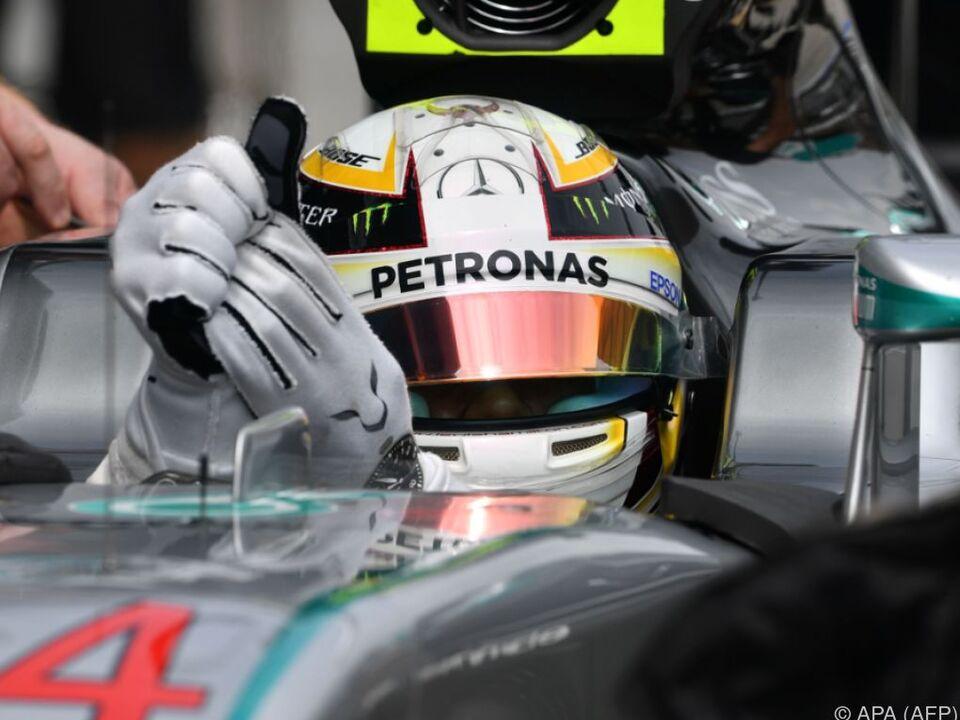 Für Hamilton ist es die achte Pole in dieser Saison