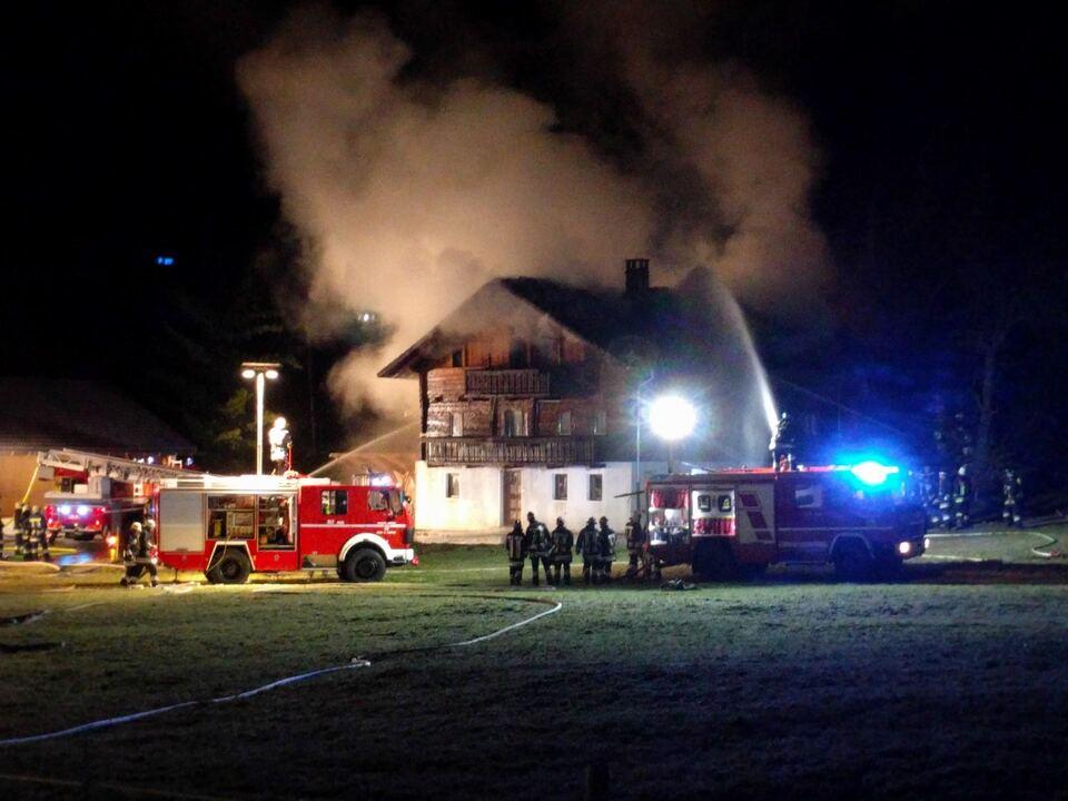 Stadelbrand Freiwillige Feuerwehr Rein in Taufers