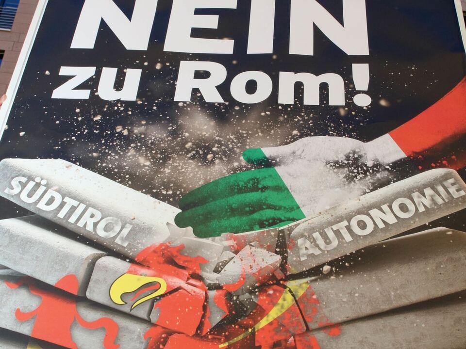Plakat Verfassung Referendum Süd-Tiroler Freiheit stf