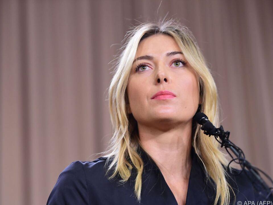 Maria Scharapowa ab April 2017 wieder spielberechtigt