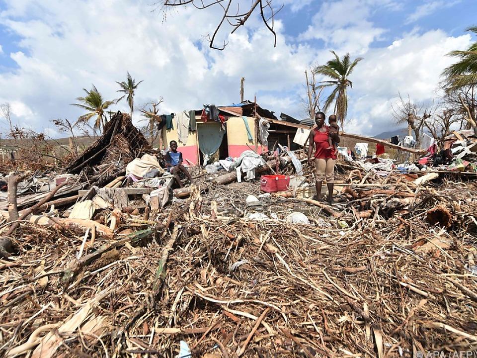 Massive Zerstörungen auf dem Inselstaat Haiti