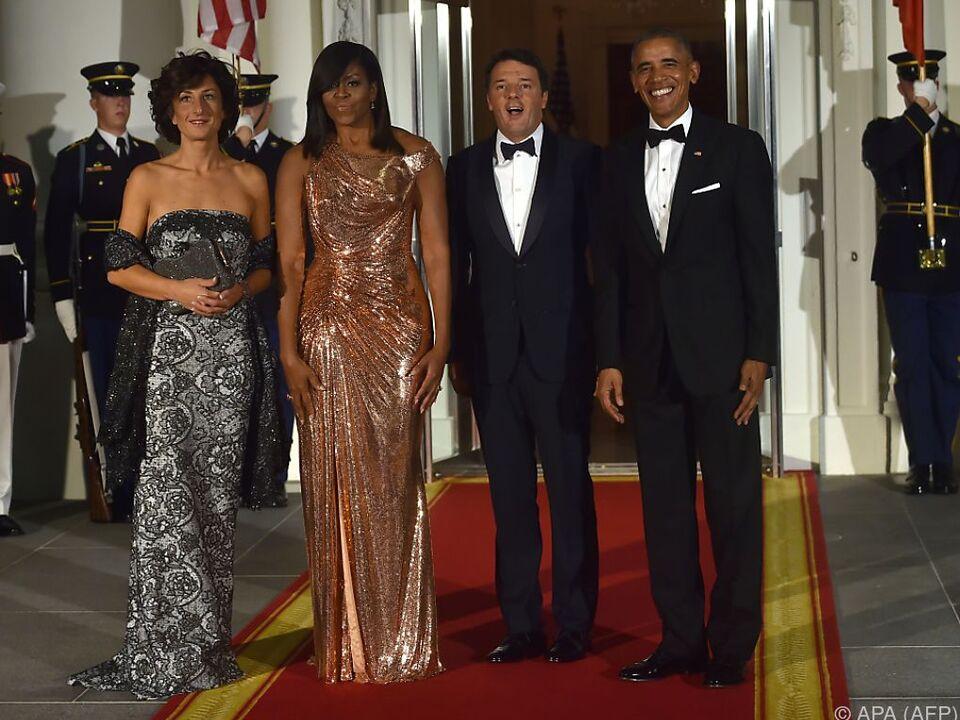 Michelle Obama (2. von links) gilt seit Jahren als Stilikone