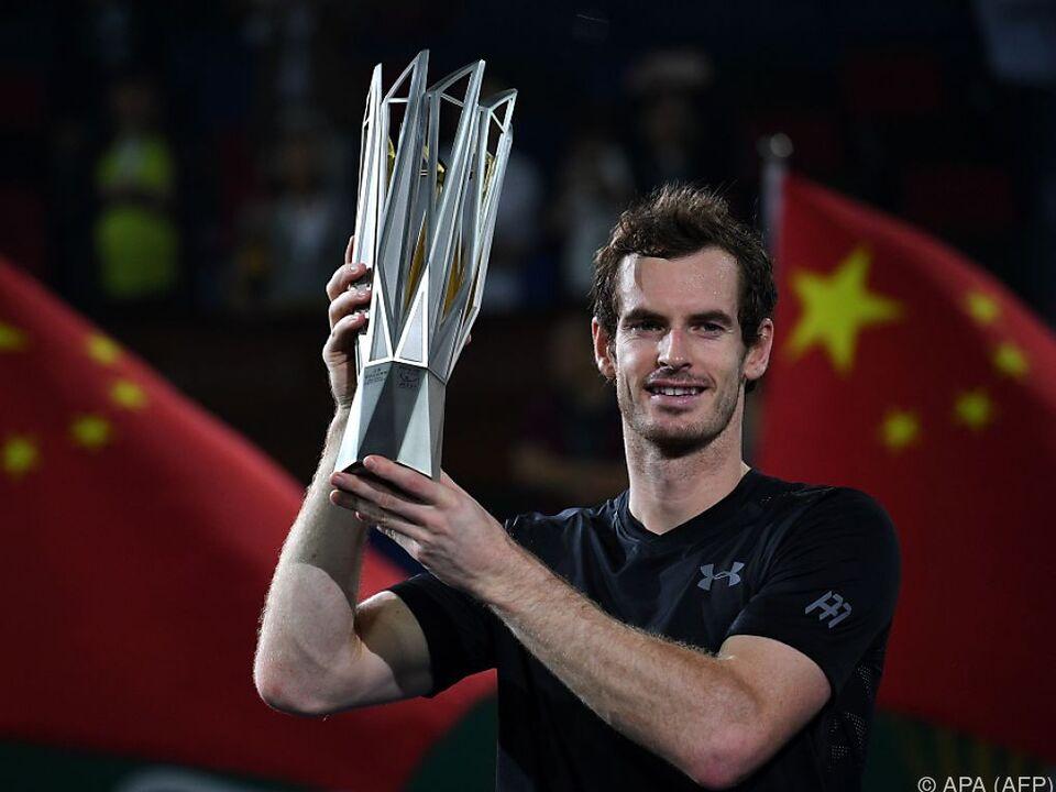 Murray gewann schon drei Mal in Shanghai
