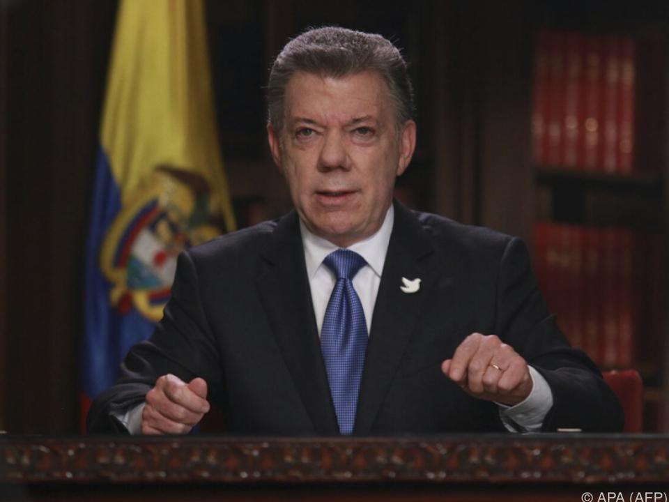 Präsident Santos will die Gespräche am 27. Oktober starten