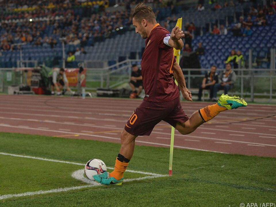 Roma-Legende Francesco Totti bei der Arbeit