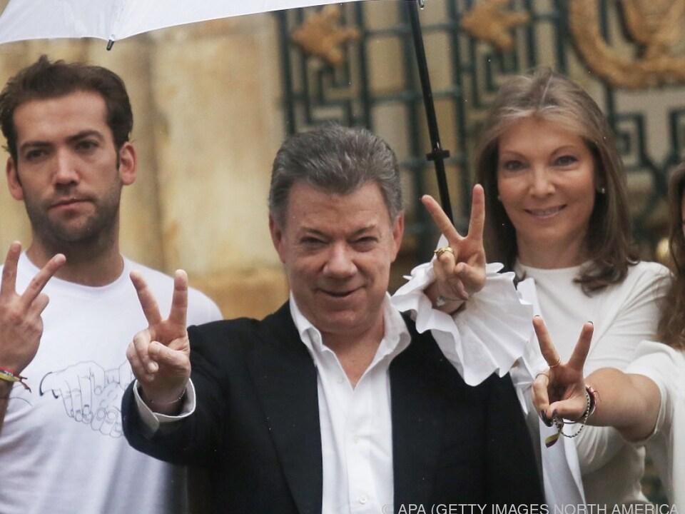 Santos bemüht sich seit Jahren um Frieden in Kolumbien