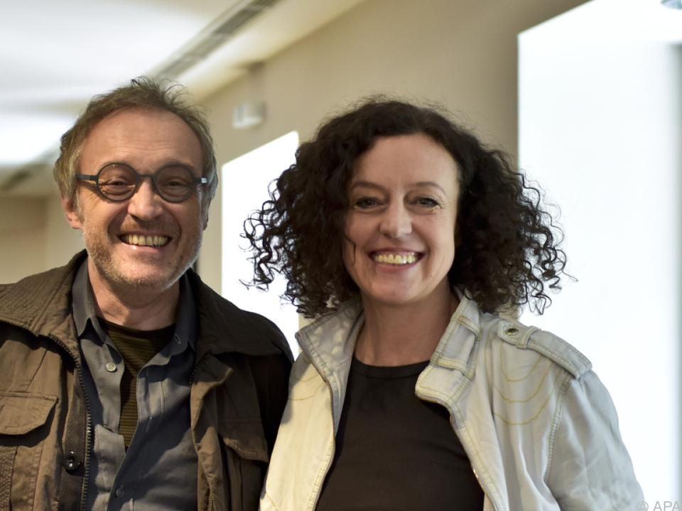 Schauspieler Josef Hader mit Regisseurin Maria Schrader