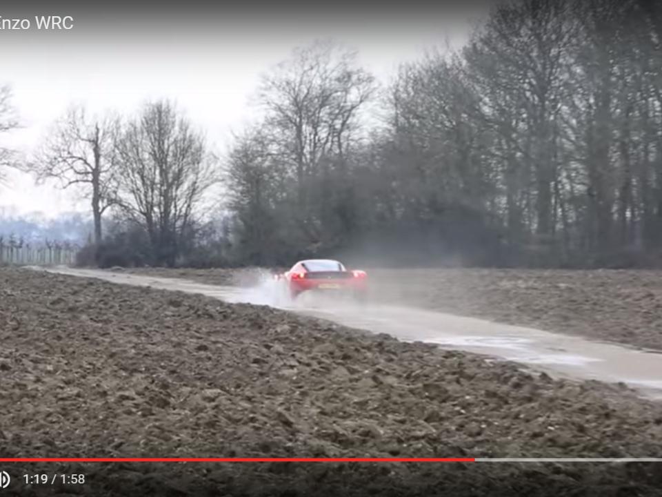 Youtube/TaxTheRich The Ferrari Enzo WRC