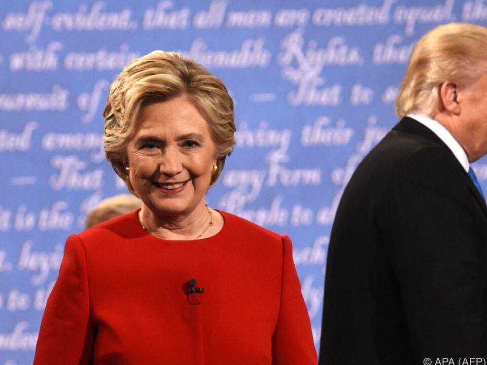Wird Hillary Clinton als Siegerin hervorgehen?