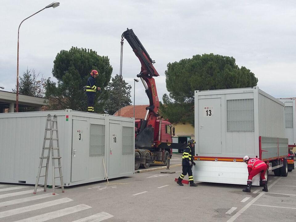 Container Erdbeben