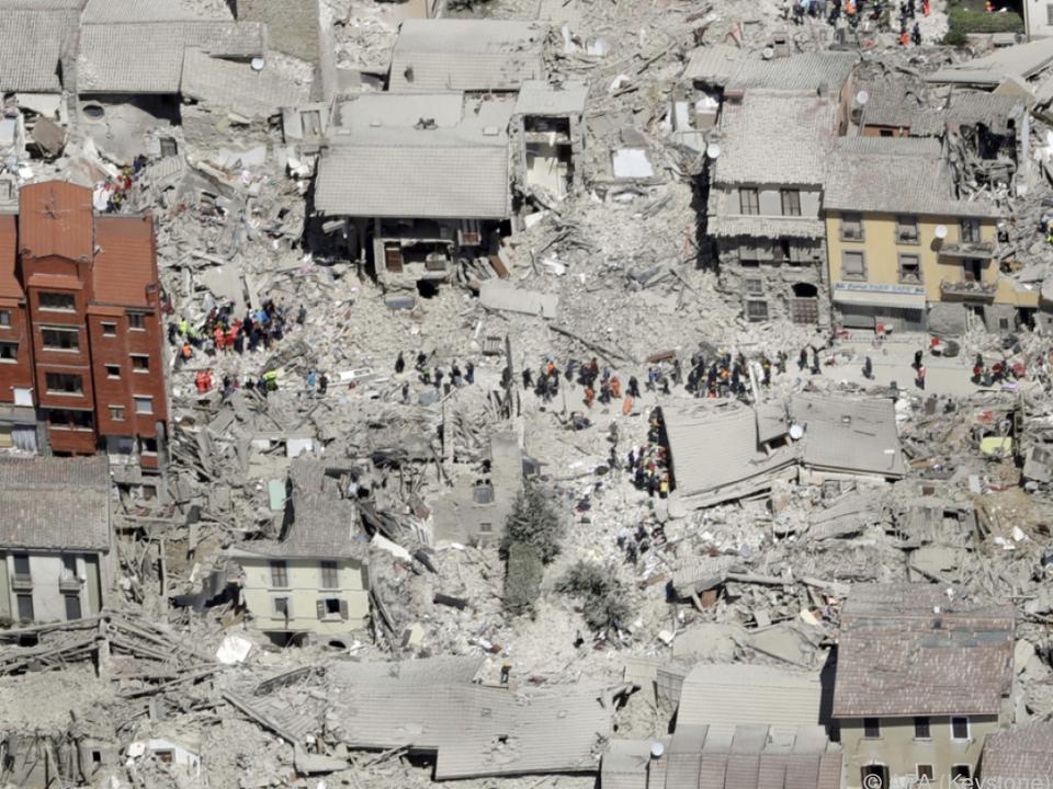 Erneut war die Gegend um das zerstörte Amatrice betroffen