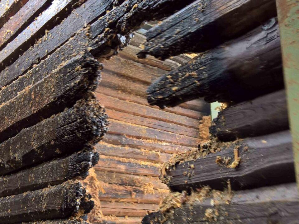 Brand Holzspänelager