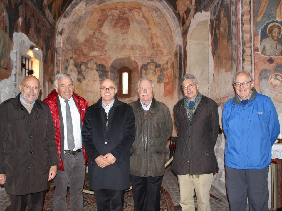 Klaus von Ach, Heiner Oberrauch, Dekan Bernhard Holzer, Werner Wallnöfer, Baron Carl Philipp von Hohenbuehl, Alfred Pichler