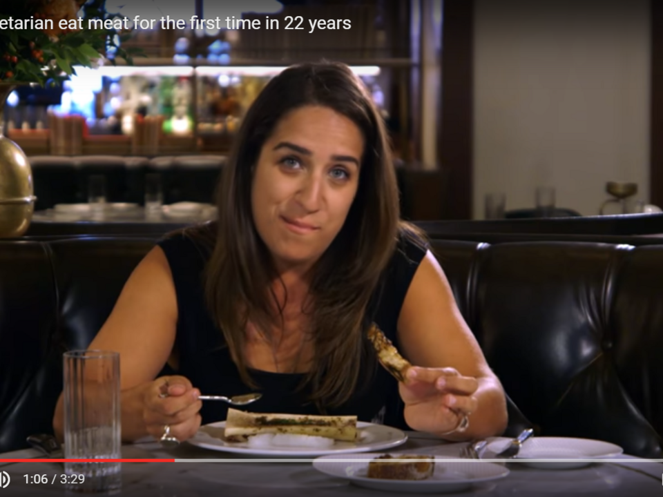 YouTube/The A.V. Club-Watch a vegetarian eat meat for the first time in 22 years