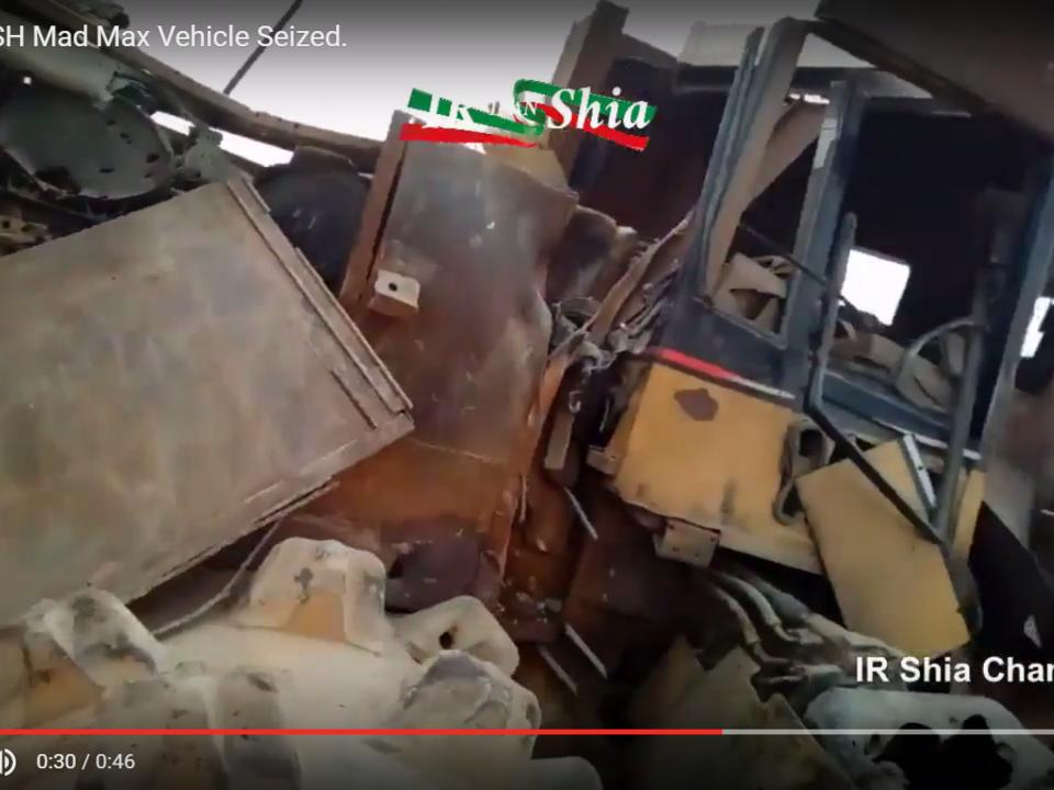YouTube/Live Leak news /Insane DAESH Mad Max Vehicle Seized.