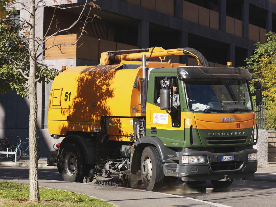 Herbstputz, Müll, Müllwagen